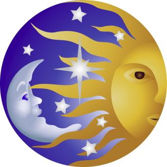 Lua Nova em Leão, dia 14/08 - 11 h 54 m - Sol, Lua e Vênus R em Leão