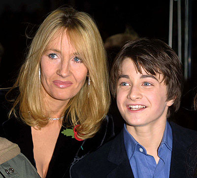 J.K. Rowling & Daniel Radcliffe arrives at the World Premiere of Harry Potter.   London Premiere of Harry Potter Odeon Leicester Square London, England UK November 4, 2001 Photo by Graham Dawes/Quick Pics UK/WireImage.com  To license this image (265978), contact WireImage: +1 212-686-8900 (tel) +1 212-686-8901 (fax) sales@wireimage.com (e-mail) www.wireimage.com (web site)